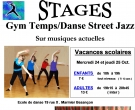 Stages danse gym